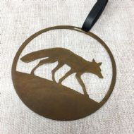 David Mayne 'Fox' Oxidised Steel Decoration